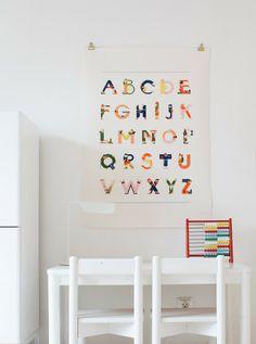 Kids room - Alphabet poster by Vesa S - Varpunen