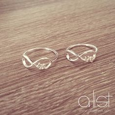 """Adorable matching Big/Little rings from A-List. Enter in promotion code """"AshleyC"""" at checkout for 10% off and FREE shipping"""