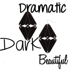 Explore your darker side with these stunning, dark statement earrings. Two triangles designed into abstract shapes and engraved with a geometric pattern forms a spectacular piece of personal jewelry. Ships worldwide from Copenhagen, Denmark. www.dakini.nu