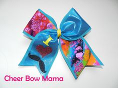 I LOVE MUSTACHES... Cheer Bow by Cheer Bow Mama
