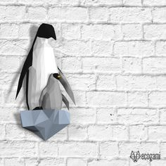 Penguins papercraft template