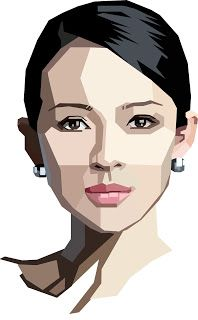 Simple graphic vector portrait