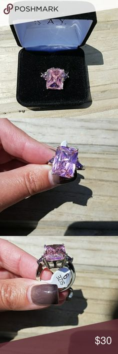 Pink Topaz & Amethyst Sterling Silver 925 Ring 9 carat💎 New With Tags🌼 Size 9💗 Jewelry Rings