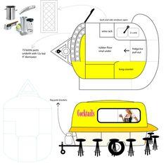 BARbra portable bar floorplan