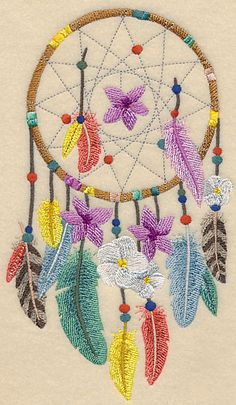 Flower of Life Dream Catcher design (L3273) from www.Emblibrary.com