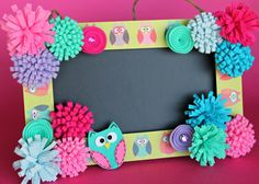 Personalized Teacher Gift Owl Chalkboard by LotusBlossomsDesigns, $38.00