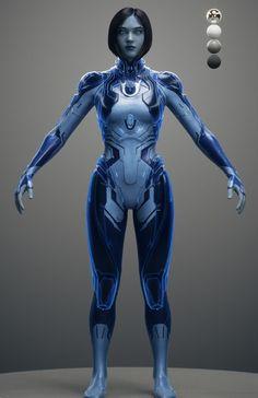 Cortana, UNSC Artificial intelligence (SN: CTN is a smart artificial intelligence. Cortana Halo, Cyborg Girl, Female Cyborg, Human Cyborg, Cyberpunk Girl, Cyberpunk Character, Cortana Cosplay, Halo Cosplay, John 117