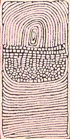 NARRABRI NAKAMARRA (1950 -2010) Untitled (Rockhole & Sandhills) 2003 acrylic on linen inscribed with artist's name and Papunya Tula Artists'...