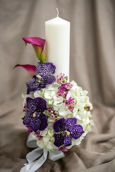 Wax Flowers, Pillar Candles, Limelight Hydrangea, Taper Candles, Candles
