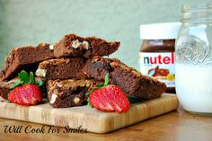 Nutella Brownies with Hazelnuts - Will Cook For Smiles