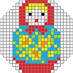 画像 : 【無料図案】マトリョーシカ 刺繍・クロスステッチ フリーチャート集 - NAVER まとめ
