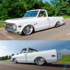 Showcasing the sickest Chevy trucks Bagged Trucks, Lowered Trucks, C10 Trucks, Chevrolet Silverado, Chevrolet Trucks, 67 72 Chevy Truck, Custom Chevy Trucks, Lowrider Trucks, Dropped Trucks