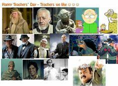 Happy Teachers day :-) Teachers from movies, literature, animation, manga....