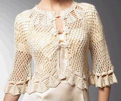 MAIS DETALHES***http://asreceitasdecroche.blogspot.com.br/2012/07/bolero-em-croche-chic.html