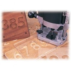 strong clear plastic letter and number templates for use with any plunge router