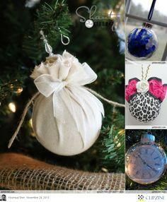 Christmas Ornaments DIY #DIY #ornaments