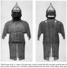 Ottoman chichak, a type of helmet (migfer) and zirh gomlak also:(zirah baktar/bagtar) a riveted mail and plate shirt, 15th century.  The New Galleries of Oriental Arms and Armor, Stephen V. Grancsay The Metropolitan Museum of Art Bulletin New Series, Vol. 16, No. 9 (May, 1958), pp. 241-256.