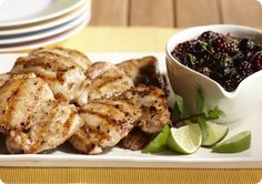 Driscoll's Barbecued Chicken with Berry Mojito Sauce www.driscolls.com #driscolls #sweepstakes