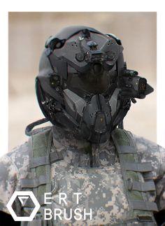 Military Helmet, Chansong Kang on ArtStation at https://www.artstation.com/artwork/rW09e