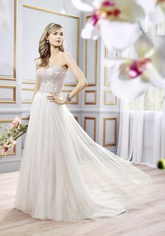 Moonlight Collection J6398 A-Line Wedding Dress