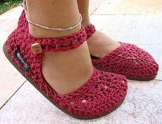 Croche e Muito Mais: sapatos em croche