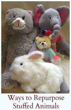Repurposing Children's Items Series: Ways to Repurpose Stuffed Animals