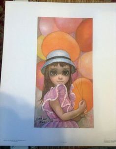 Vintage Retro Mod Margaret Walter KEANE Print AT THE FAIR Big Eyes! + Free Print #BigEyesKid