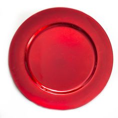 13 in. Red Charger Plates 4/pack