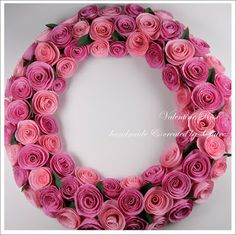 Claire's paper craft: Valentine Rose Weath