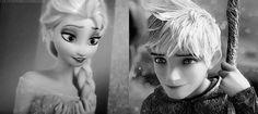 Queen Elsa and Jack Frost