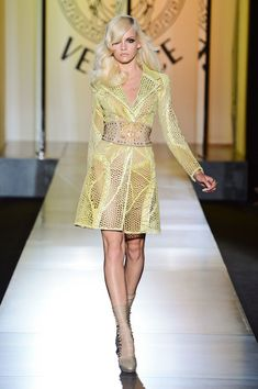 Versace Couture Fall 2012 The overall silhouette of this jacket is one that will never go out of trend. The intricate detailing on the textile makes the entire look pop and can entirely be worn as its own outfit.