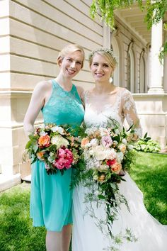 Bride and matron of honor bouquets! Photograph by Canary Grey