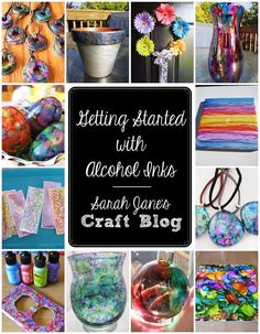 Sarah Jane's Craft Blog: Getting Started with Alcohol Inks
