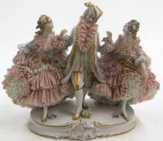 6704: Dresden crinoline porcelain figural : Lot 6704