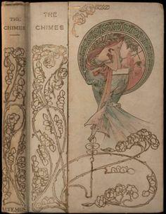 1901 Alphonse Mucha RARE Art Nouveau Fine Binding Antique Gilt Cloth Lithograph | eBay