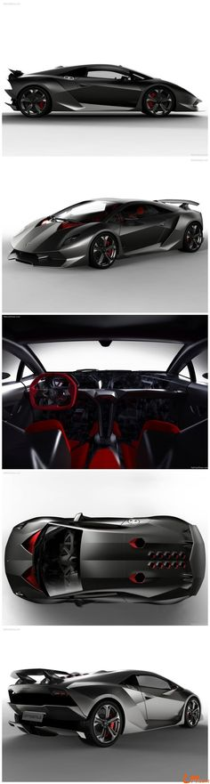 Lamborghini Sesto Elemento - It's name is a reference to the atomic number of carbon, in recognition of the car's extensive use of #carbonfibre. Badass knowledge! Now, hit the image to see it #demolish the track...