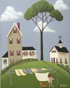 ruby's boarding house, catherine holman folk art
