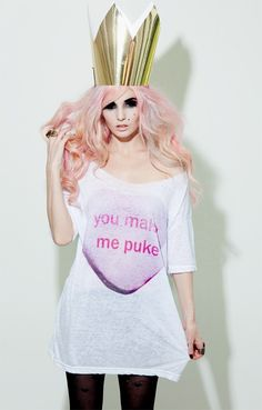 Audrey Kitching / Coco De Coeur - You Make Me Puke shirt