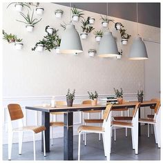 """Digging this neutral, Scandinavian-inspired decor with a wall of full of greenery!  Looks like the perfect space for a Sunday afternoon pit-stop in Chicago. [ by @rclayton via our #wheretofindme feed] #regram"" Photo taken by @onekingslane on Instagram, pinned via the InstaPin iOS App! http://www.instapinapp.com (08/16/2015)"