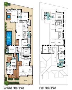 Heritage two storey floor plans by Boyd Design Perth. Let's design your next home.