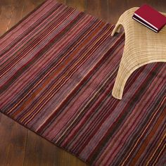 Thick Deep Pile Hand Woven Rugs A Pair Of Woodland Spruce Red 150 X 90 Cms