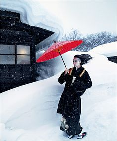 Winter Fashion in Japan: The New York Times Heads East for Some Stunning Snow Photography at LuLus.com!