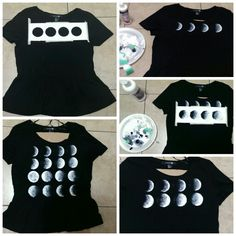 Diy brandy melville moon phase peplum shirt