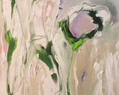 Abstract Floral Acrylic Painting Giclee Print by lindamonfort