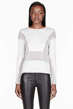 Helmut Lang Oyster Grey Inverse Texture Pullover for women | SSENSE
