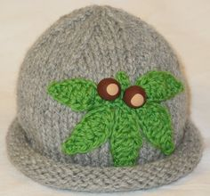 Ohio State Buckeye Hat for Baby with Handmade Buckeye Beads