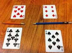 """War Use playing cards to play """"Fraction War"""" - this is a great way to learn fractions!Use playing cards to play """"Fraction War"""" - this is a great way to learn fractions! Math For Kids, Fun Math, Math Resources, Math Activities, Fraction Activities, Fraction Bingo, Fraction Games For Kids, Fraction Rules, Fraction Wall"""