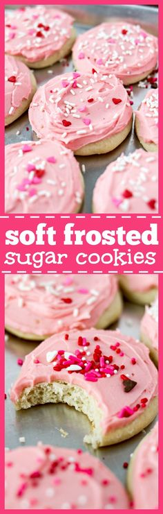 Soft Frosted Sugar Cookies - These soft, frosted sugar cookies taste identical to the ones you love to buy at the grocery store bakery. They are so fun to make at home and have none of the preservatives that you get in the store-bought version.