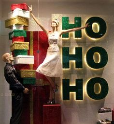 Ideas de decoración para escaparates navideños