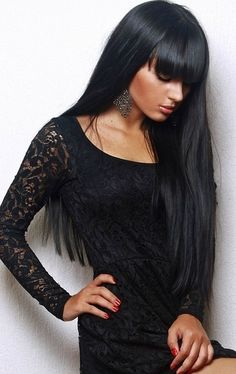 arab beauty... tan skin and beautiful black hair